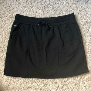 Lacoste Black Cotton Skirt with pockets